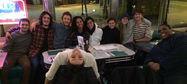 Early morning breakfast at Kelly's diner after four new babies joined our ranks for spring 2014!